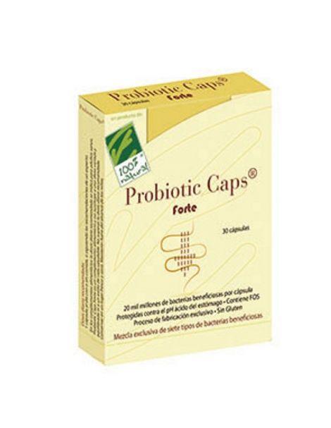 Probiotic Caps Forte Cien por Cien Natural - 30 cápsulas