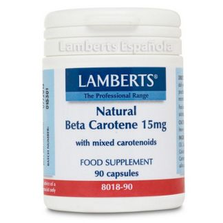 Beta Caroteno Natural 15 mg. Lamberts - 90 cápsulas