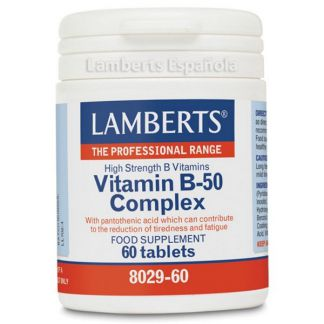 Complejo de Vitamina B-50 Lamberts - 60 tabletas