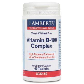 Complejo de Vitamina B-100 Lamberts - 60 tabletas