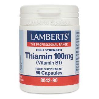 Tiamina (Vitamina B1) 100 mg. Lamberts - 90 tabletas