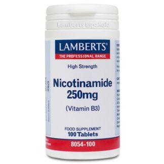 Nicotinamida (Vitamina B3) 250 mg. Lamberts - 100 tabletas