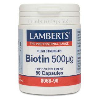 Biotina 500 mcg. Lamberts - 90 cápsulas