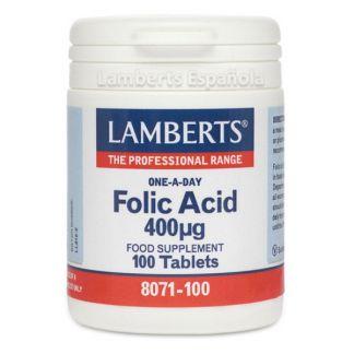 Acido Fólico 400 mcg. Lamberts - 100 tabletas