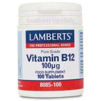 Vitamina B12 100 mcg. Lamberts - 100 tabletas