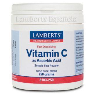 Vitamina C (Acido Ascórbico). Lamberts - 250 gramos