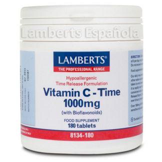 Vitamina C 1000 mg con Bioflavonoides L. Sostenida. Lamberts - 180 tabletas