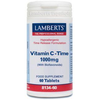 Vitamina C 1000 mg con Bioflavonoides L. Sostenida. Lamberts - 60 tabletas