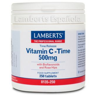 Vitamina C 500 mg con Bioflavonoides L. Sostenida. Lamberts - 250 tabletas