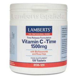 Vitamina C 1500 mg con Bioflavonoides L. Sostenida. Lamberts - 120 tabletas