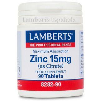 Zinc 15 mg. Lamberts - 90 tabletas