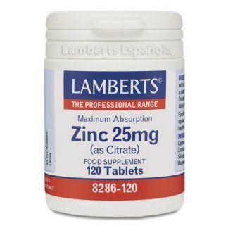 Zinc 25 mg. Lamberts - 120 tabletas