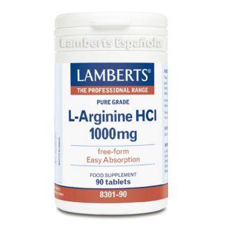 L-Arginina HCI 1000 mg. Lamberts - 90 tabletas