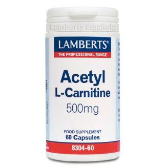 L-Acetil Carnitina 500 mg. Lamberts - 60 cápsulas