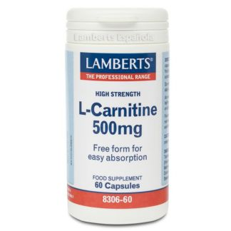 L-Carnitina 500 mg. Lamberts - 60 cápsulas