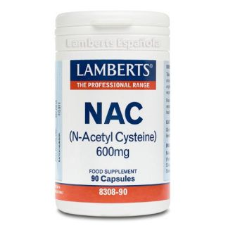 NAC (N-Acetil Cisteina) 600 mg. Lamberts - 90 cápsulas