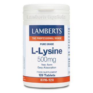 L-Lisina 500 mg. Lamberts - 120 tabletas