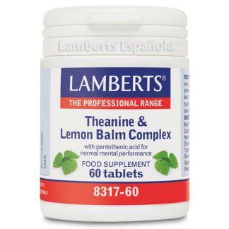 L-Teanina y Bálsamo de Limón Complex Lamberts - 60 tabletas