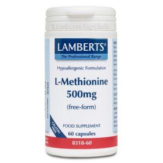 L-Metionina 500 mg. Lamberts - 60 cápsulas