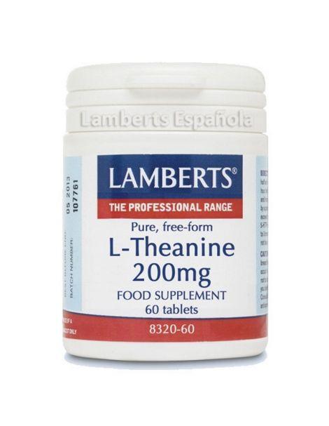 L-Teanina 200 mg. Lamberts - 60 tabletas