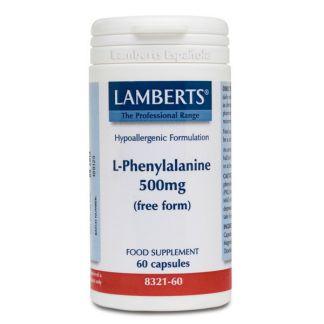 L-Fenilalanina 500 mg. Lamberts - 60 cápsulas