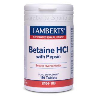 Betaina HCI con Pepsina Lamberts - 180 tabletas
