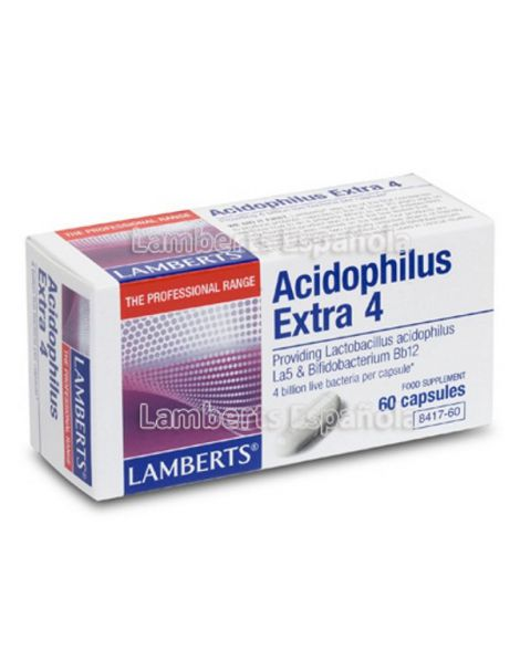 Acidophilus Extra 4 Lamberts - 60 cápsulas