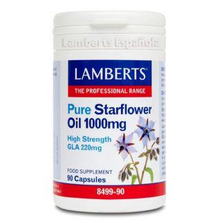 Aceite de Borraja Puro 1000 mg. Lamberts - 90 cápsulas