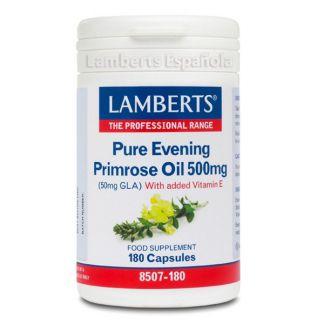 Aceite de Prímula Puro 500 mg. Lamberts - 180 cápsulas