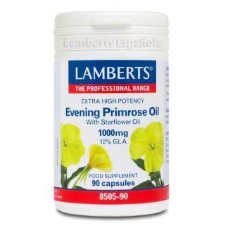 Aceite de Prímula Extra Alta Potencia con Borraja 1000 mg. Lamberts - 90 cápsulas