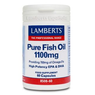 Aceite de Pescado Puro 1100 mg. Lamberts - 60 cápsulas