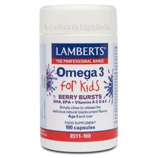 Omega 3 para Niños Lamberts - 100 cápsulas