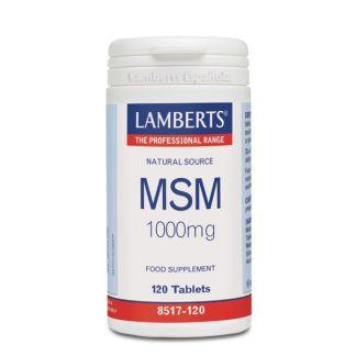 MSM 1000 mg. Lamberts - 120 tabletas