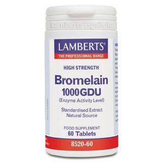 Bromelina 1000 GDU Lamberts - 60 tabletas