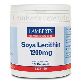 Lecitina de Soja 1200 mg. Lamberts - 120 cápsulas