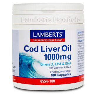 Aceite de Hígado de Bacalao 1000 mg. Lamberts -  180 cápsulas
