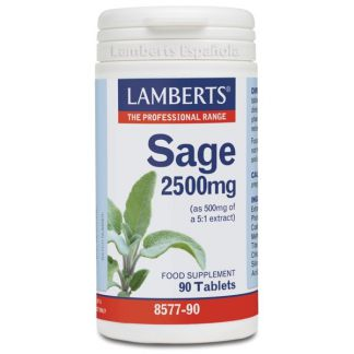 Salvia 2500 mg. Lamberts - 90 tabletas