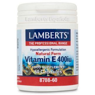 Vitamina E Natural 400 UI Lamberts - 60 cápsulas