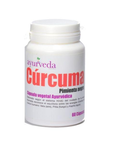 Cúrcuma con Pimienta Ayurveda Auténtico - 60 cápsulas