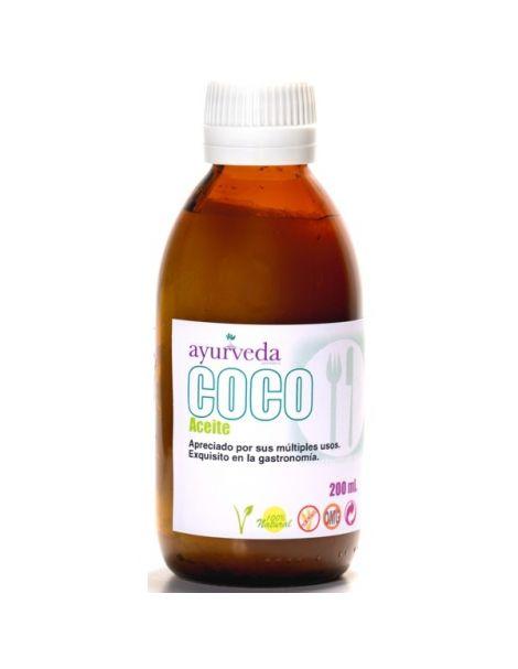 Aceite de Coco Puro Ayurveda Auténtico - 200 ml.