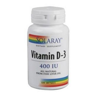 Vitamina D3 400 UI Solaray - 120 perlas