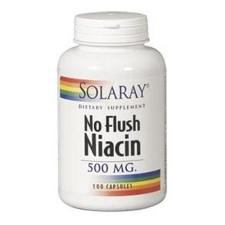Niacina 500 mg. (No Ruborizante) Solaray - 100 cápsulas