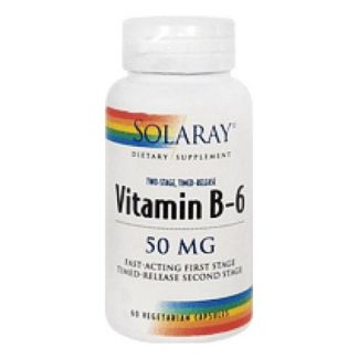 Vitamina B6 50 mg. Acción Retardada. Solaray - 60 cápsulas