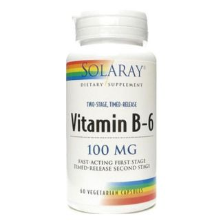 Vitamina B6 100 mg. Acción Retardada. Solaray - 60 cápsulas