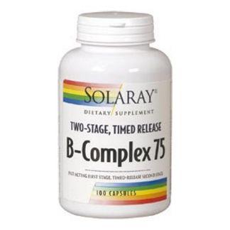 B-Complex 75 Acción Retardada Solaray - 100 cápsulas