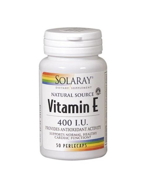 Vitamina E Solaray - 50 perlas