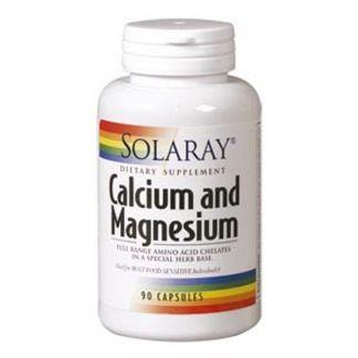 Calcio y Magnesio Solaray - 90 cápsulas