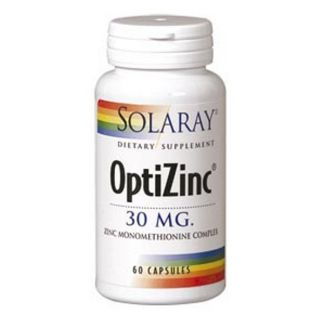OptiZinc Solaray - 60 cápsulas