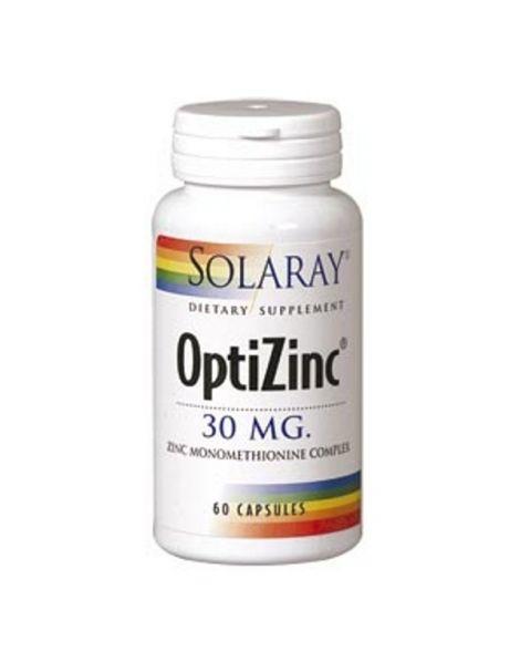 OptiZinc Solaray - 60 cápsulas