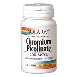 Picolinato de Cromo 200 mcg. Solaray - 50 comprimidos
